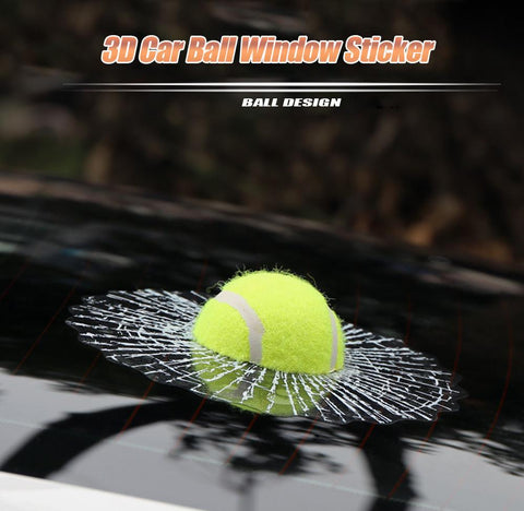 3D Funny Ball Hits My Window Sticker