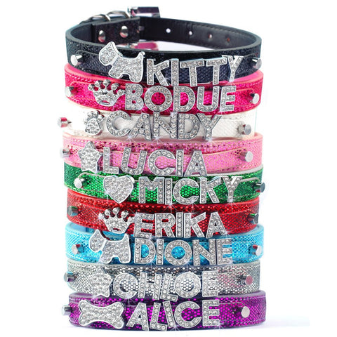FREE Name Customization Rhinestone Pet Collar
