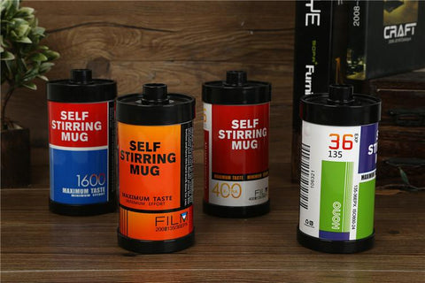 Self Stirring Stainless Steel Roll Film Coffee Mug