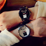 Cute Japanese Cat Leather Watch