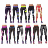 2016 Designer 3D Print Women Elastic Sports Pants