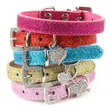 Crystal Heart Pendant Pet Collar