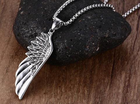 2017 Vintage Gothic Angel Wing Necklace