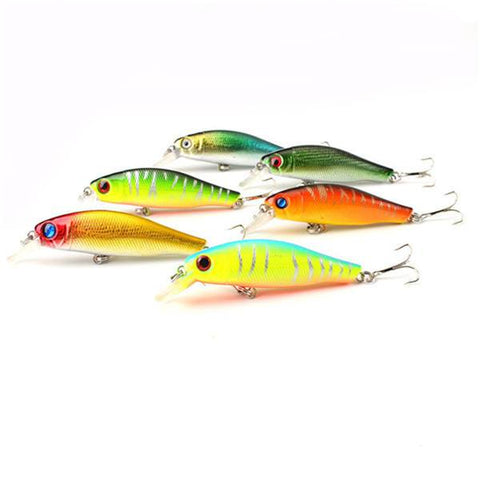 6 pieces/lot 3D Colorful Fishing Lures