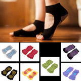 Fashion Non-Slip Half Toe Yoga Socks