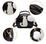 60% OFF - Cute Cat & Fur Ball Cross Body Handbag