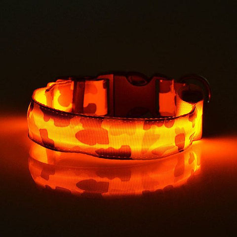 Camouflage LED Pet Collar