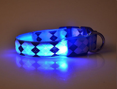 Rhombus LED Pet Collar