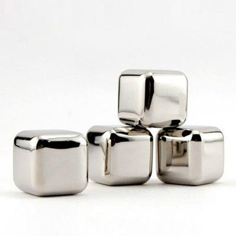 5 pcs/lot Stainless Steel Stones Ice Cooler
