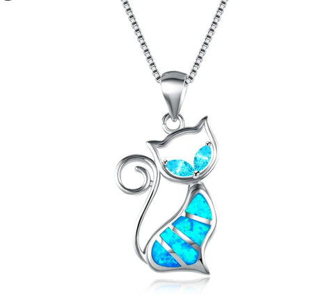 56%OFF Fire Opal Cat Necklace - ONLINE EXCLUSIVE