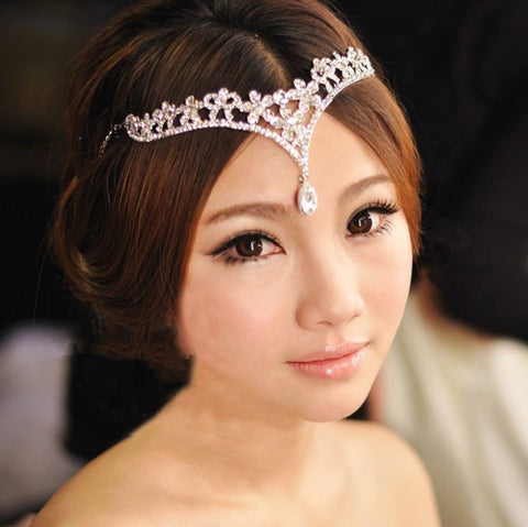Crystal Headpiece With Silver Rhinestone