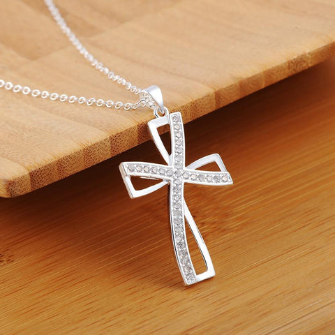 Classic Crystal Cross Necklace - LIMITED EDITION