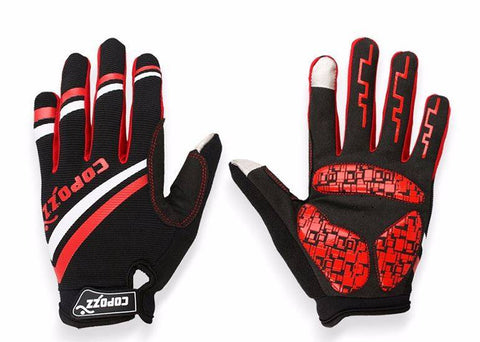 Cool Unisex Cycling Full Finger Gel Pad Gloves