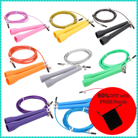 GoFit Crossfit Metal Bearing Skipping Rope With FREE Pouch