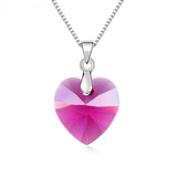 Classic Heart Pendant Necklace Made With Swarovski Elements