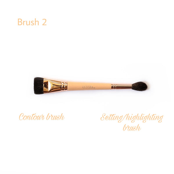 Luxe Makeup Brush set (13 brushes + pouch) - CORAL