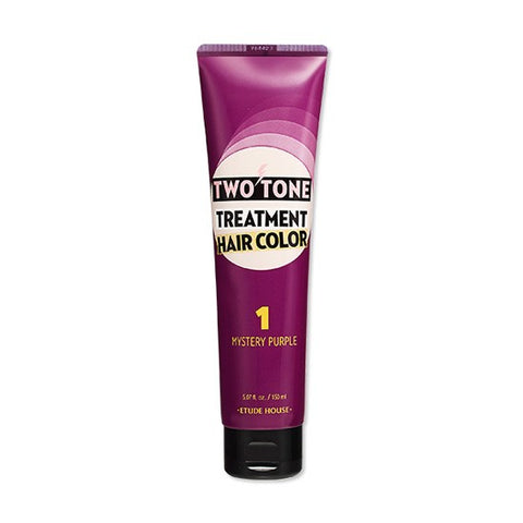 ETUDE HOUSE Two Tone Treatment Hair Color Mystery Purple - 150ml - CORAL