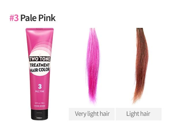 ETUDE HOUSE Two Tone Treatment Hair Color Pale Pink - 150ml - CORAL