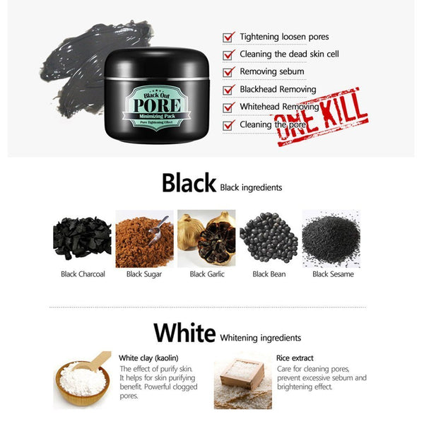Black Out Pore Minimizing Pack - 100g - CORAL