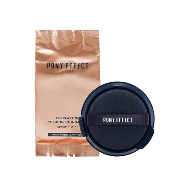 PONY EFFECT Everlasting Cushion Foundation - 1pack (15g+Refill) - CORAL