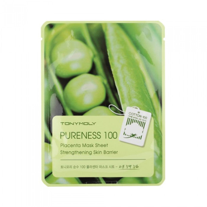 Pureness 100 Mask Sheet - Placenta (Strengthening Skin Barrier) - CORAL