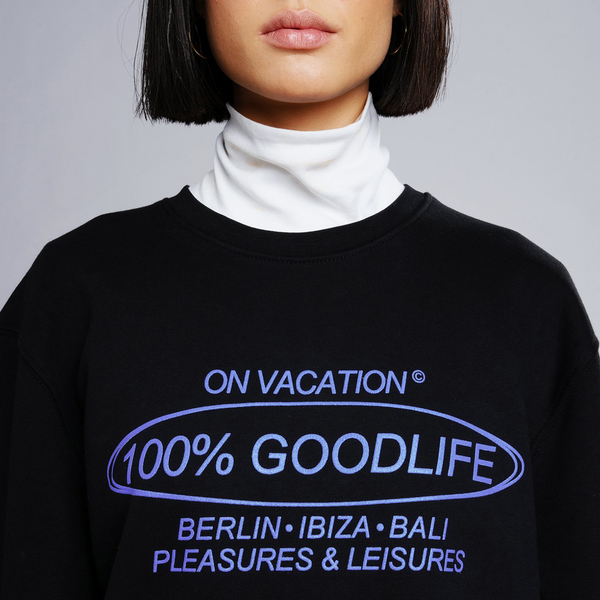 100% Goodlife Sweater - Black