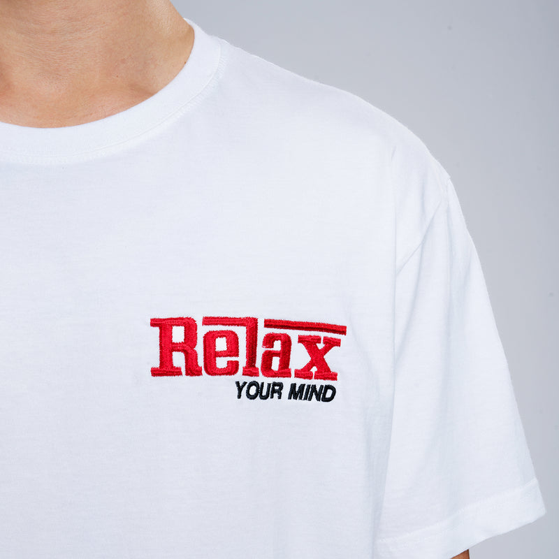 Relax Your Mind Embroidery T-Shirt - White
