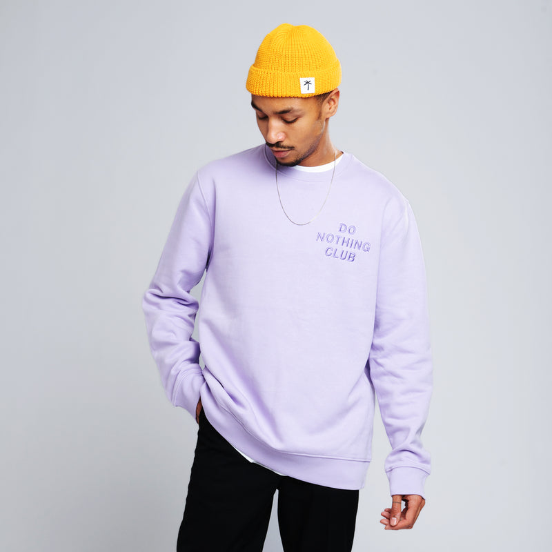 Do Nothing Club Sweater - Light-Purple
