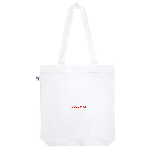 Dolce Vita Shopping Bag - White