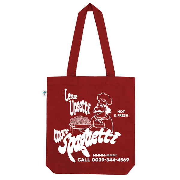 Less Upsetti Shopping Bag - Dark-Red