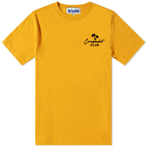 Correspondant Palms Club T-Shirt Yellow