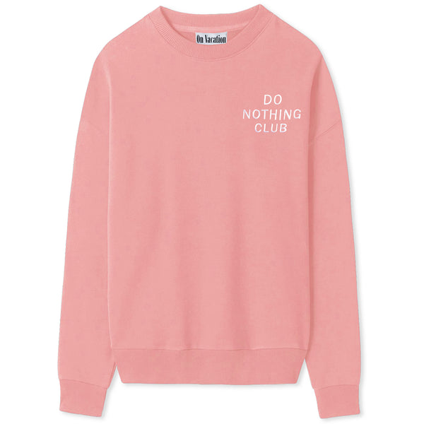 Do Nothing Club Sweater - Rose