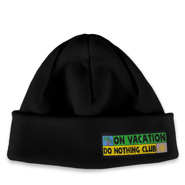 Merino Beanie Do Nothing Club - Black