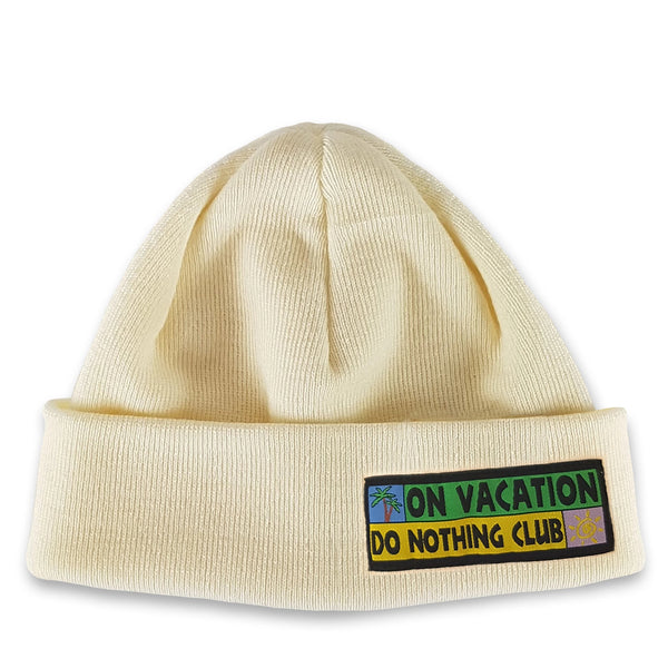 Merino Beanie Do Nothing Club - White