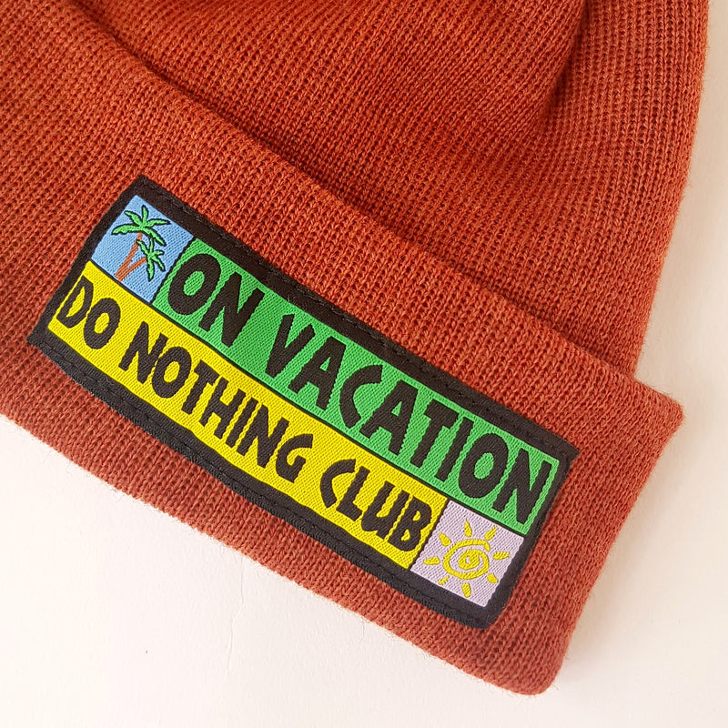 Merino Beanie Do Nothing Club - Rust