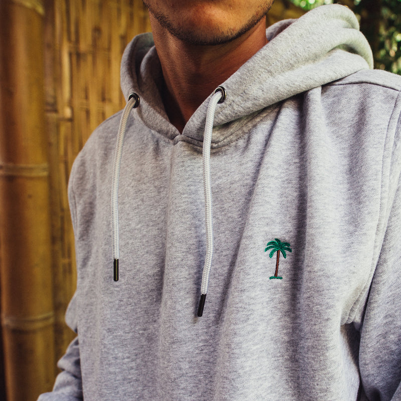 On Vacation Palms Hoodie Grey