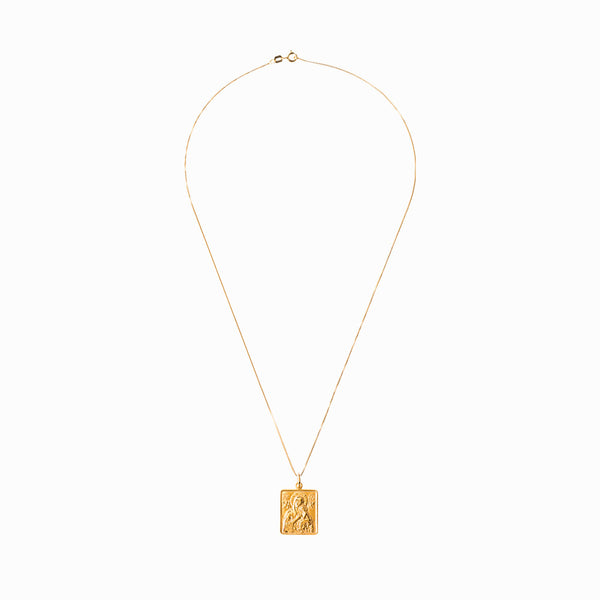 Madonna and Child Frame Gold Chain