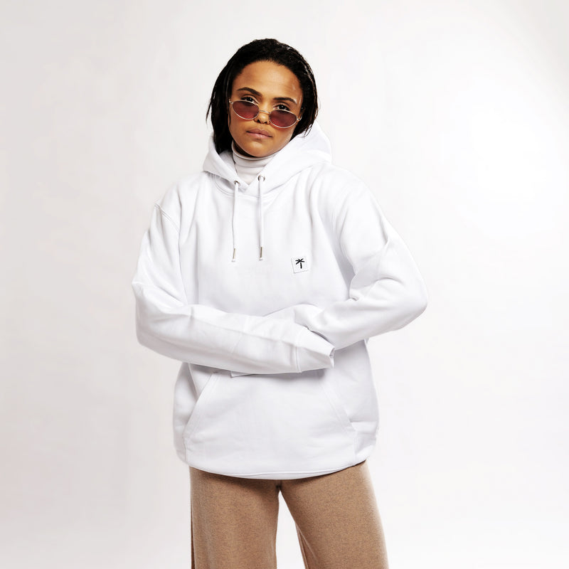 Palms Patch Hoodie - White