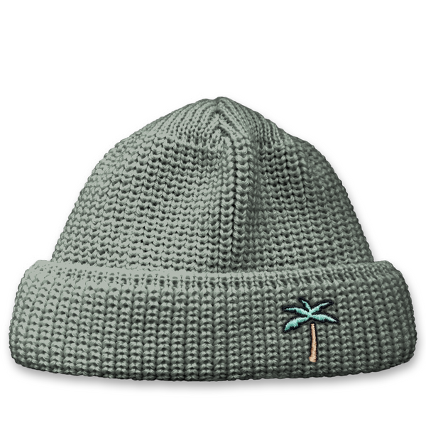 Short Wool Beanie Palm - Grey