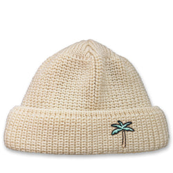 Short Wool Beanie Palm - Off White