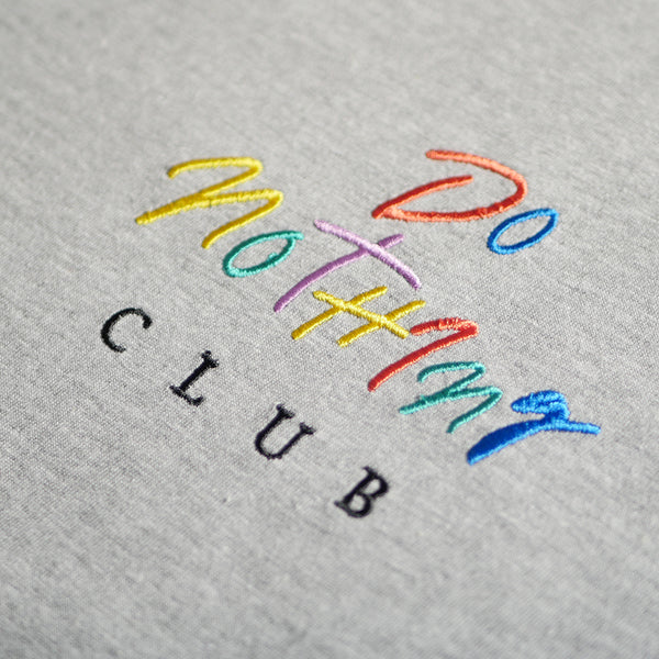90s Do Nothing Club T-Shirt Grey