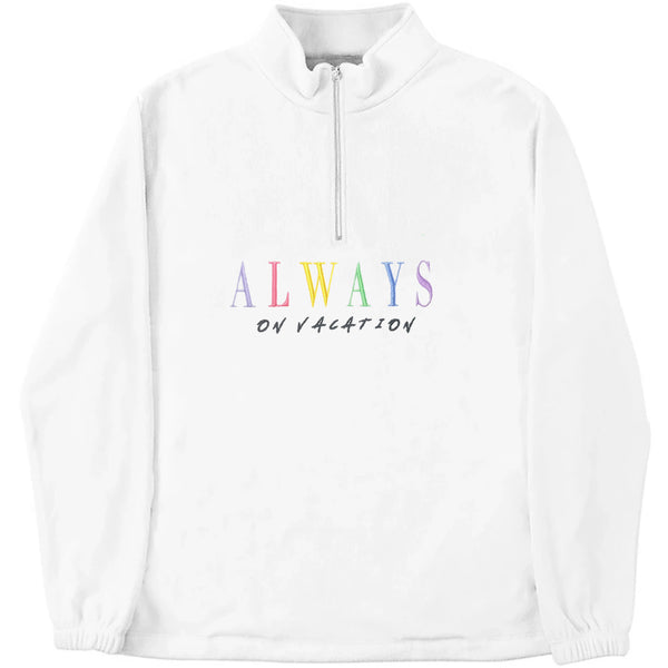 Always On Vacation Fleece White