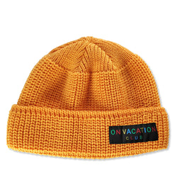 Short Wool Beanie Colorful - Honey