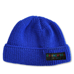 Short Wool Beanie Colorful - Royal