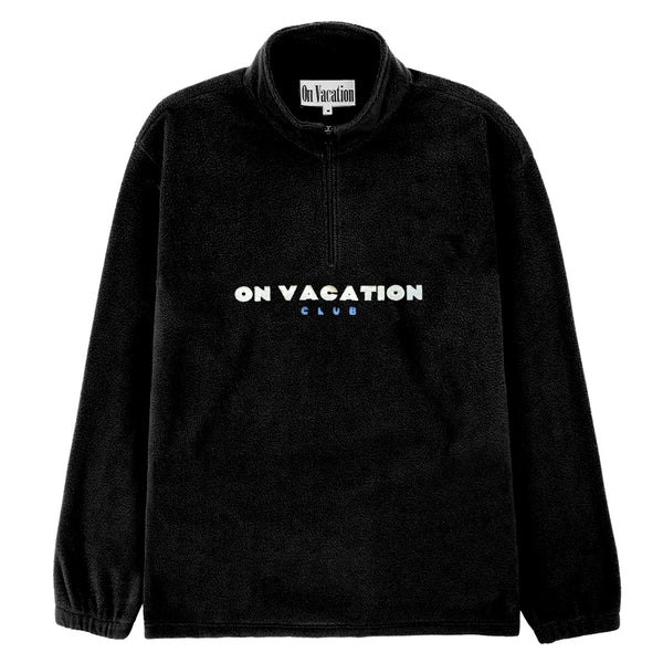 Bold Fleece Sweater - Black