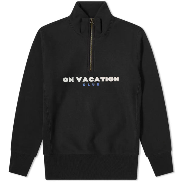 Bold Quarter Zip Sweater - Black