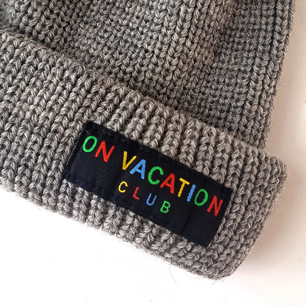 Classic Wool Beanie Colorful - Grey