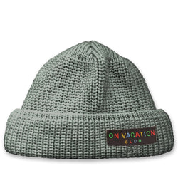 Short Wool Beanie Colorful - Grey