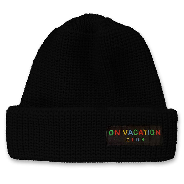 Classic Wool Beanie Colorful - Black