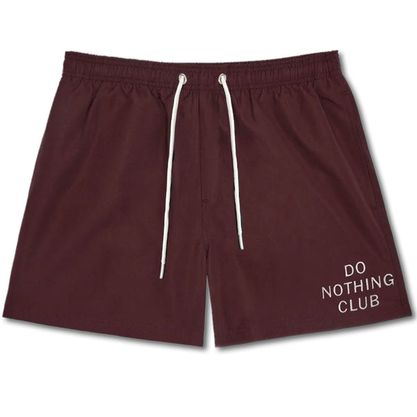 Do Nothing Club Swim Shorts - Bordeaux